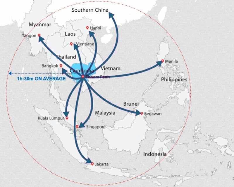 Cambodia's Strategic Location in SEA